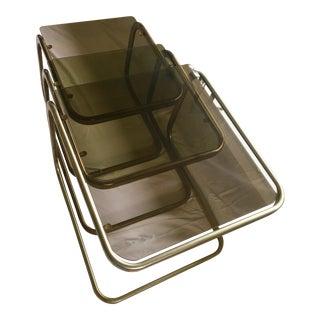 Milo Baughman Glass Nesting Table