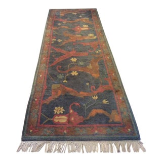 Tufenkian Tibetan Oriental Wool Runner-2′10″ × 9′8″ For Sale