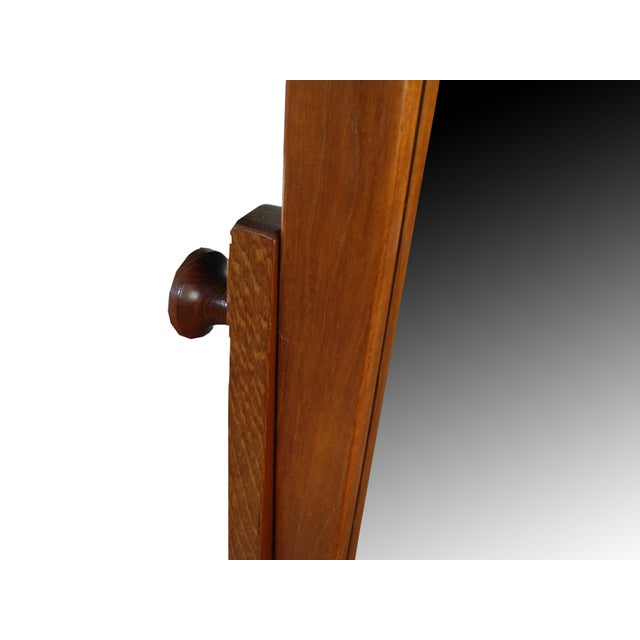 Vintage Danish Modern Teak Full Length Floor Mirror by Pedersen & Hansen For Sale - Image 9 of 13