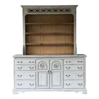 Mid 19th Century Bassett Farmhouse French Country Hutch For Sale