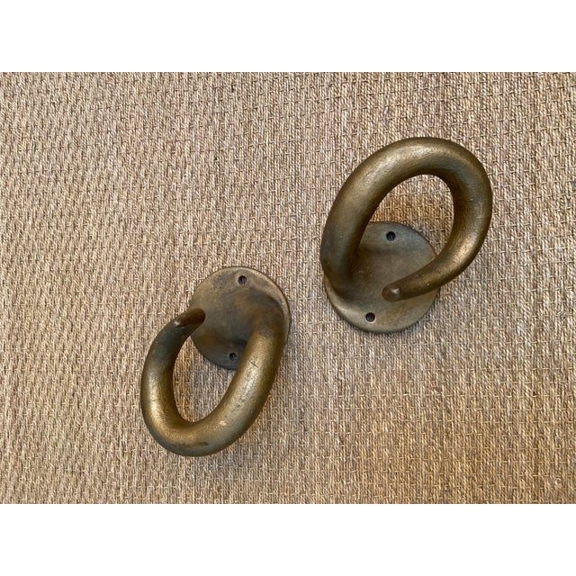Mid 20th Century Mid 20th Century Resin Horn Hooks - a Pair For Sale - Image 5 of 7