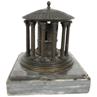 19th Century Neoclassical Grand Tour Bronze Model of the Temple of Vesta, Rome For Sale