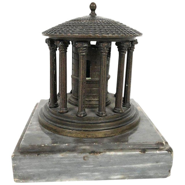 19th Century Neoclassical Grand Tour Bronze Model of the Temple of Vesta, Rome For Sale