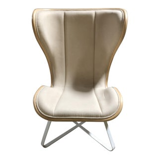 Bend Natural W/ Grey Fabric Lounge Chair