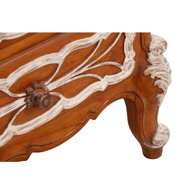 French Carved French Dresser With German Marble Top For Sale - Image 3 of 6