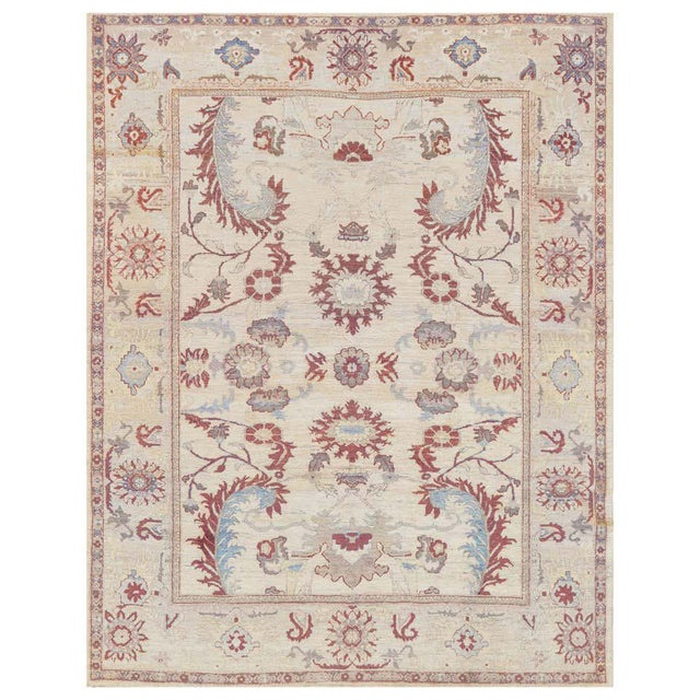 2010s Handwoven Persian Sultanabad Rug For Sale - Image 5 of 5