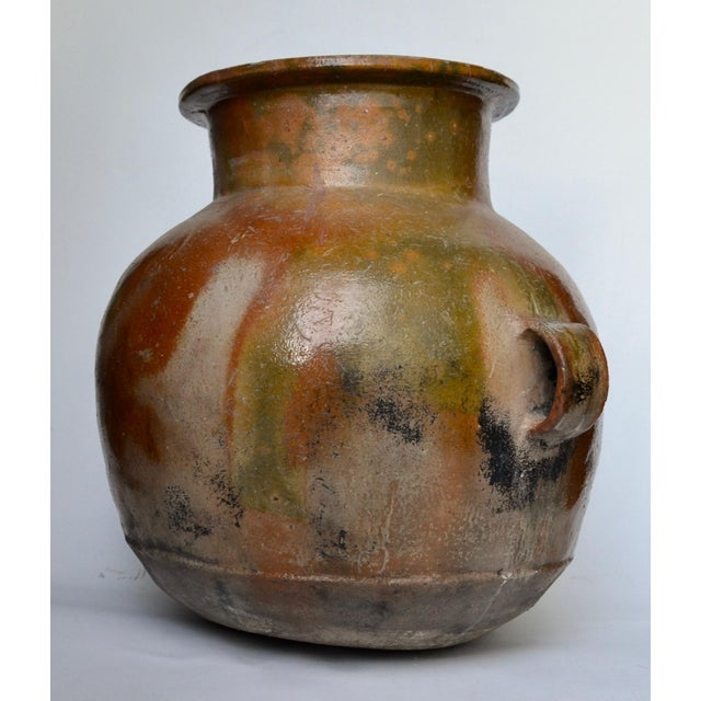 Antique Guatemalan Large Terracotta Water Container For Sale - Image 4 of 6