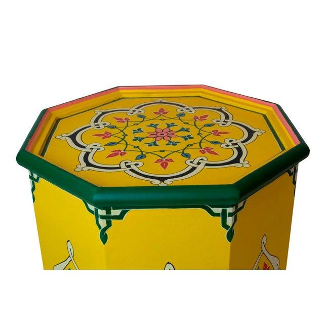 Boho Chic Safi Artisan Side Table For Sale - Image 3 of 3