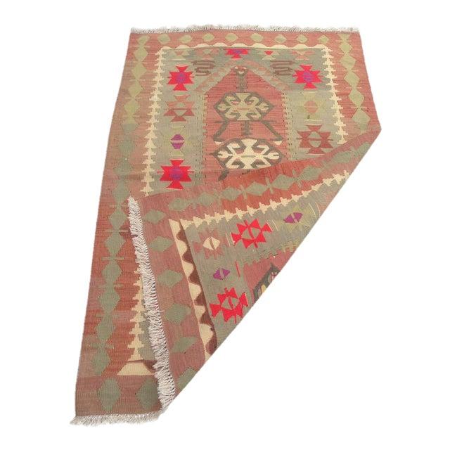 "Vintage Anatolian Oyshak Rug -- 3' x 4'11"" For Sale"