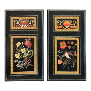 Hand Painted Italian Panels C.1960s - a Pair For Sale