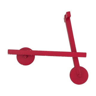 Red Abstract Scooter Bookself For Sale