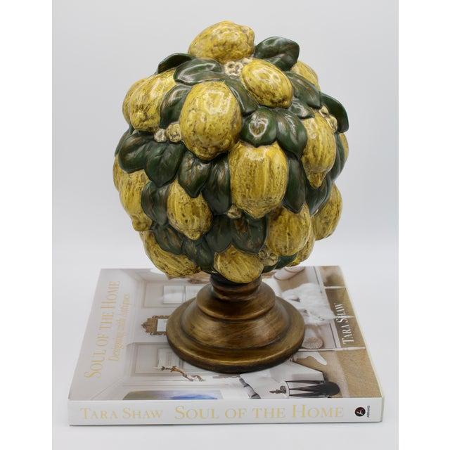 Vintage Italian Floral Lemon Tree / Topiary For Sale - Image 12 of 13