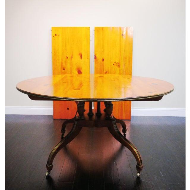 Baker 2 Leaf Dining Table - Image 2 of 6
