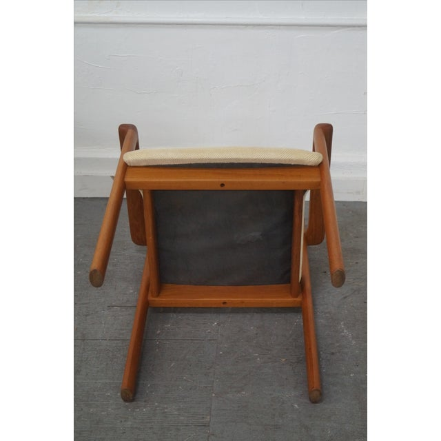 Danish Modern Teak Arm Chairs - Pair For Sale - Image 5 of 9