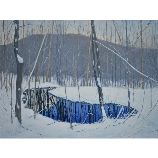 """""""The Pond and the Mountain"""" Painting by Stephen Remick For Sale"""