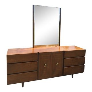 Mid Century American of Martinsville Long Dresser with Mirror For Sale