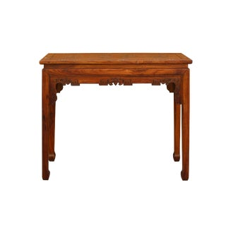 Chinese Light Brown Rosewood Mother of Pearl Inlay Altar Table For Sale