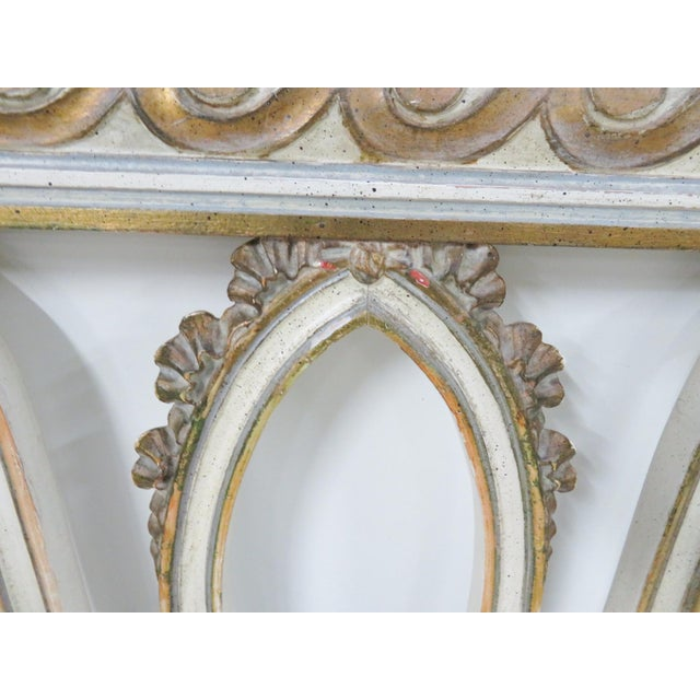 Italian Carved Cream King Headboard For Sale - Image 9 of 11
