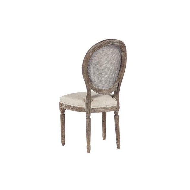French Louis XVI Style Oak Balloon Back Dining Chair For Sale In Atlanta - Image 6 of 7