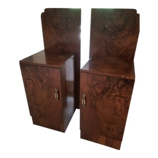 Art Deco Bedside Cabinets - A Pair For Sale