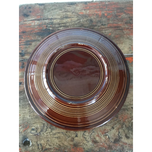 American Homer Laughlin Amberstone Serving Platter For Sale - Image 3 of 6