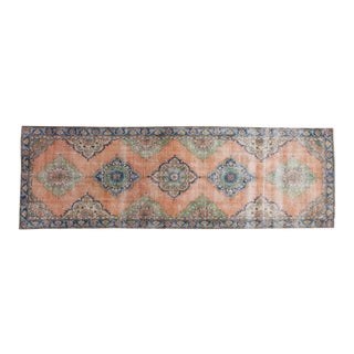 "Vintage Distressed Oushak Rug Runner - 4'5"" x 13'5"""