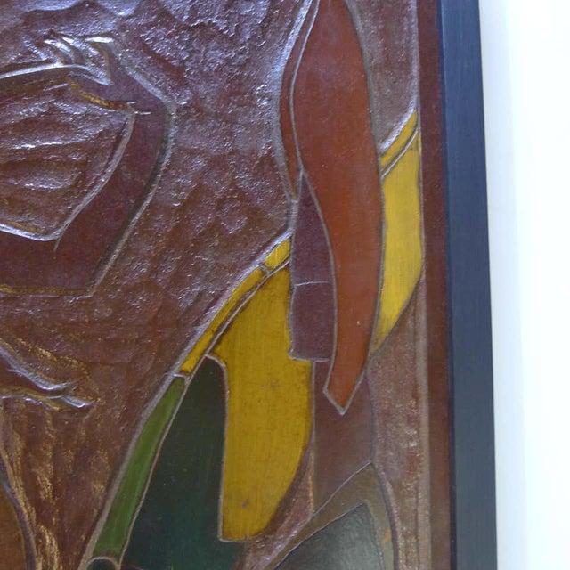 Jan De Swart Mid 20th Century Africana Tribal Relief Panel Art Signed Jan De Swart For Sale - Image 4 of 8