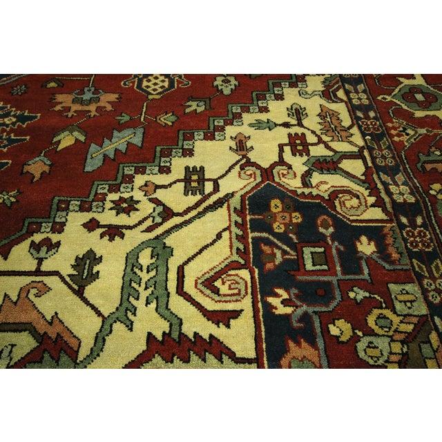 "Red Heriz Serapi Wool Rug - 10' x 14'1"" - Image 5 of 10"