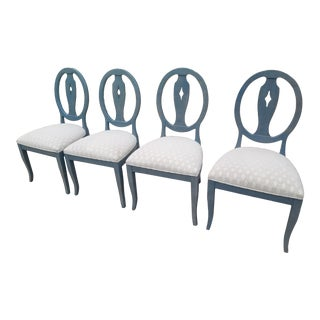 Ethan Allen Upholstered Dining Chairs - Set of 4 For Sale