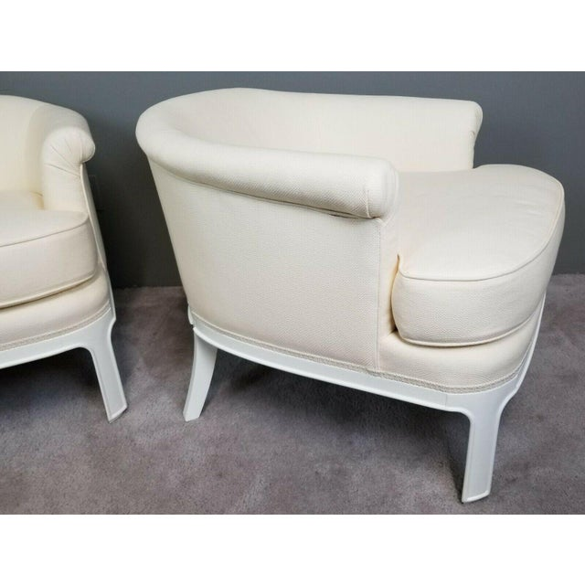 Mid 20th Century Hollywood Regency Tomlinson Club Chairs - a Pair For Sale - Image 5 of 12