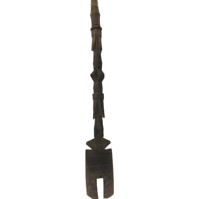African Tribal Art Paddle Sculpture - Image 1 of 5