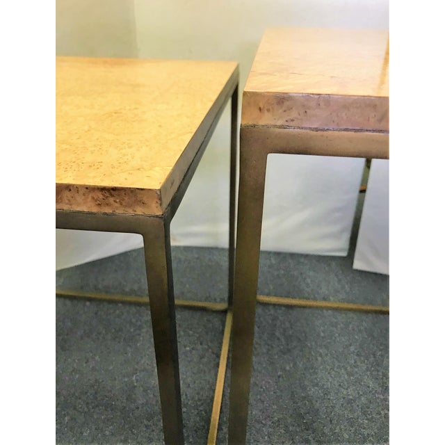 Keno Bros Burled Maple Nesting Tables - Set of 3 For Sale - Image 10 of 13