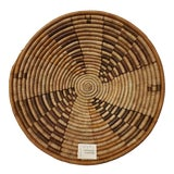 Image of 1970s Vintage African Woven Basket For Sale