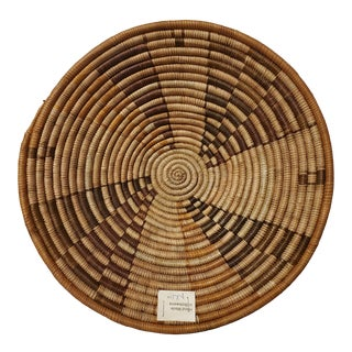 1970s Vintage African Woven Basket For Sale