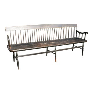 Early 19th Century Antique Meeting House Bench For Sale