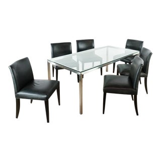 Contemporary Room & Board Dining Set - 7 Pieces For Sale