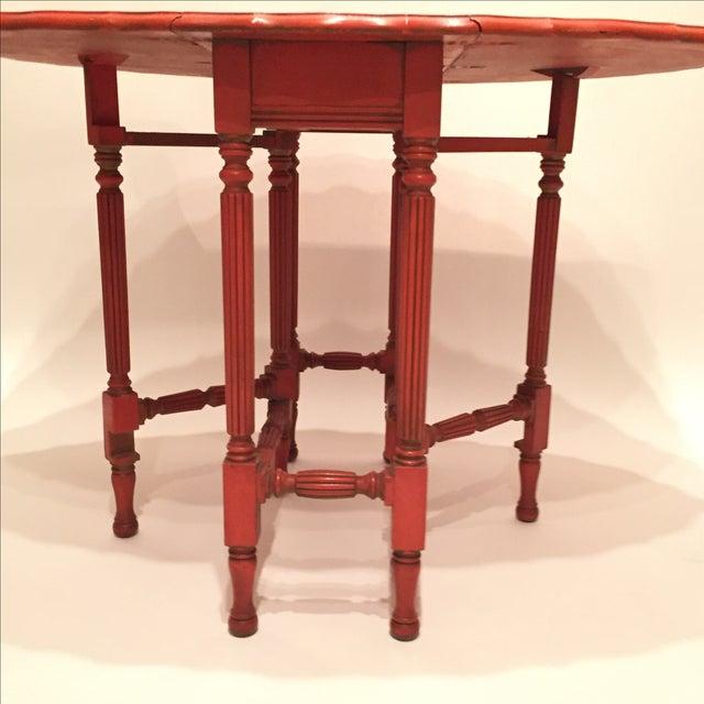 Vintage Orange Drop Leaf Table - Image 6 of 11