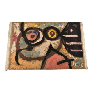 """Joan Miró """"Femme Et Oiseaux"""" Tapestry, France 1966"""