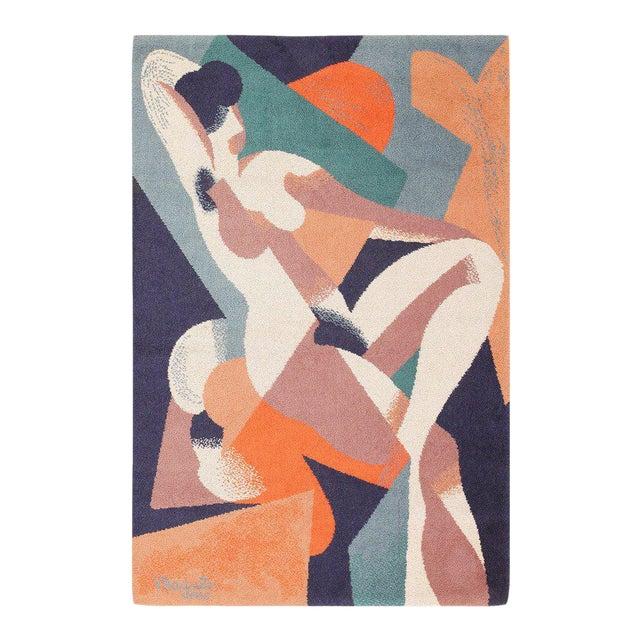 Vintage Ege Scandinavian Carpet After René Magritte - 4′7″ × 6′7″ For Sale