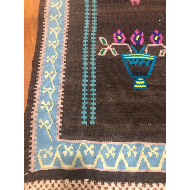 Turkish Vintage Kilim Prayer Rug For Sale - Image 4 of 8
