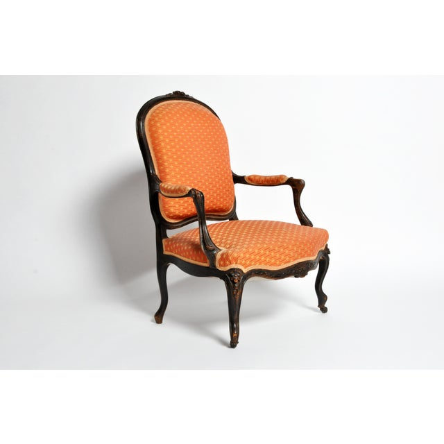 French Louis XV Style Fauteuil With Cabriole Legs For Sale - Image 3 of 11