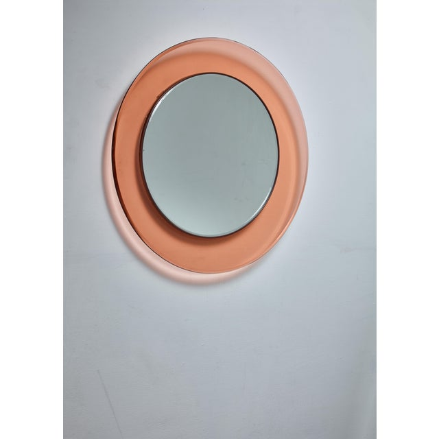 Round Fontana Arte Mirror by Max Ingrand, Italy, 1960s - Image 3 of 3