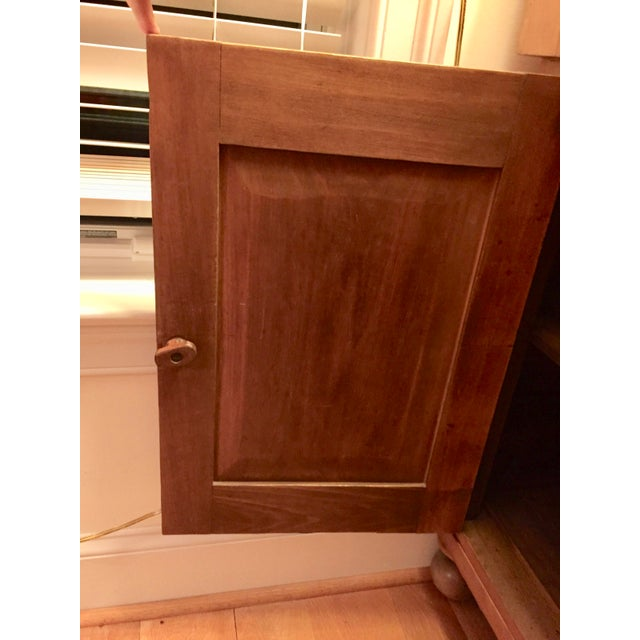 Antique Country Cupboard With Gallery Top For Sale - Image 6 of 9
