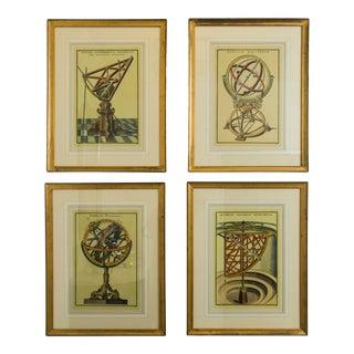 Astronomical Instrument Prints, Framed - Set of 4 For Sale