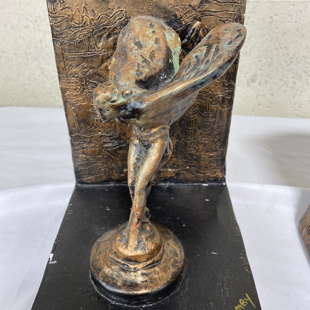 Rolls Royce Flying Lady Bookends - a Pair For Sale - Image 12 of 13