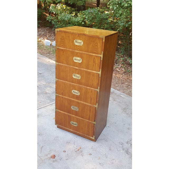 Dixie Vintage Dixie Campaign Style Lingerie Chest of Drawers For Sale - Image 4 of 10