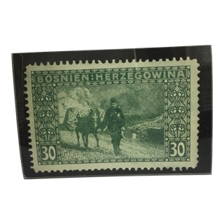 Antique Enlarged Bosnien Postage Stamp
