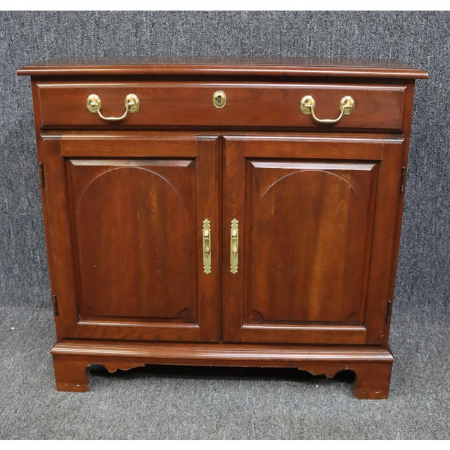 Brown Harden Chippendale Style Cherry Console Cabinet For Sale - Image 8 of 8