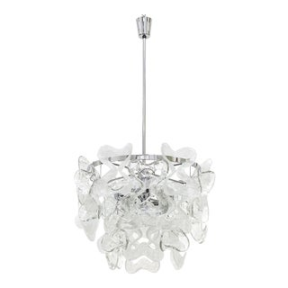 "Large Kalmar ""Catena"" Murano Glass Chandelier, 1970s"