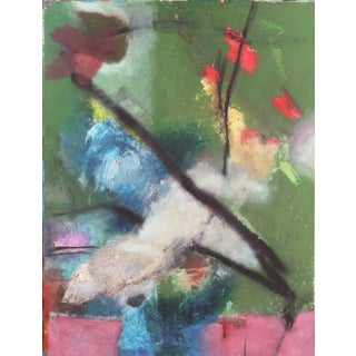 'Abstract in Orchid and Jade' by Kevin Keaney; California Bay Area Abstraction For Sale